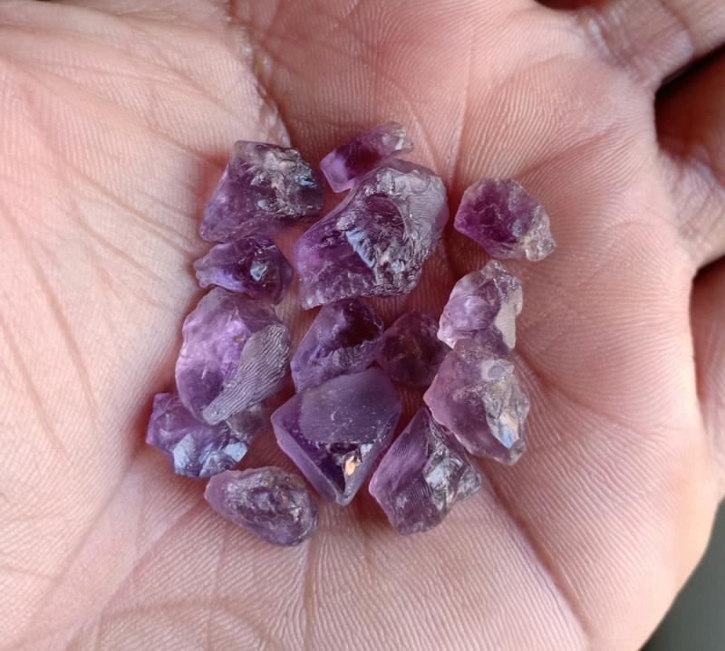 50 cts Natural Amethyst Rough Gemstone Wholesale parcel VA3973