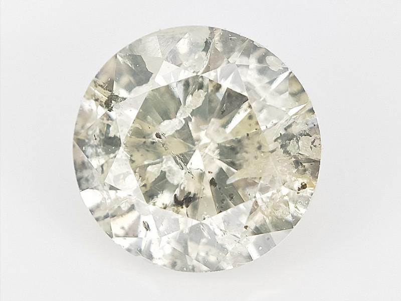 0.37 CTS , Round Brilliant Cut , Light Colored Diamond