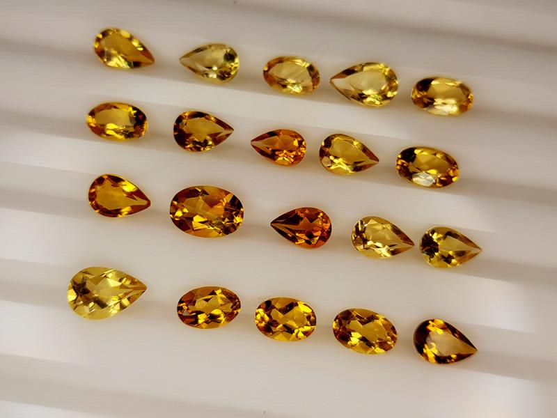 7.15Crt Madeira Citrine Lot Natural Gemstones JI137