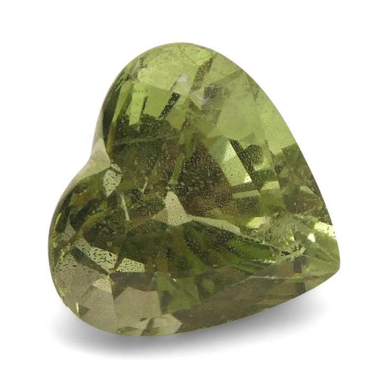3.53ct Heart Mint Green Grossular Garnet