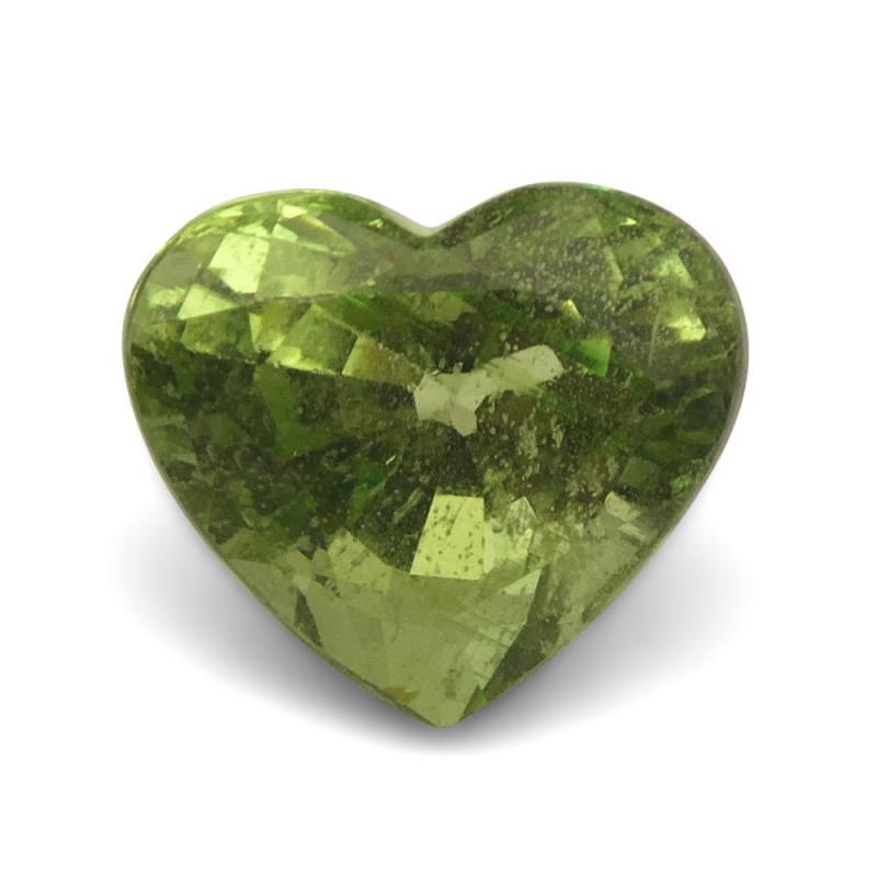 3.05ct Heart Mint Green Grossular Garnet