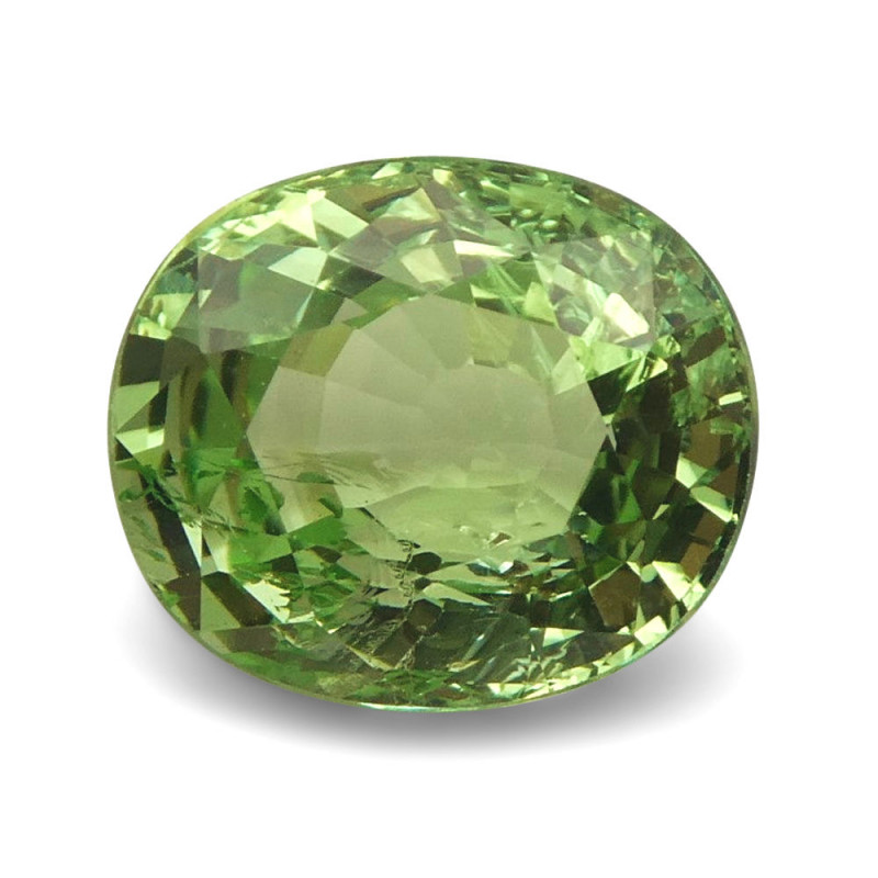 2.57ct Oval Mint Green Grossular Garnet