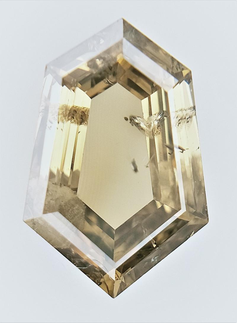 0.74 cts , fancy Color Diamond , Fancy Cut Diamond