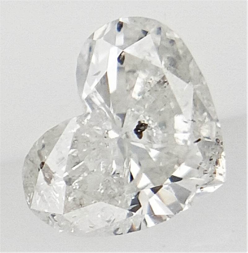 0.19 cts , White Color Diamond , Heart Brilliant Cut Diamond