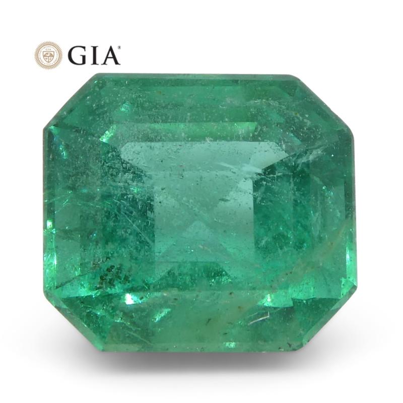 2.8ct Octagonal/Emerald Cut Emerald GIA Certified Zambian