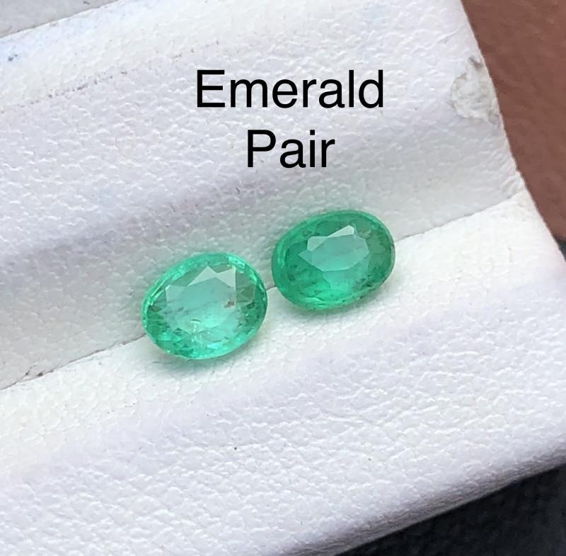 Attractive 0.65 ct Deep Color Panjshir Emerald Pair For Jewlery