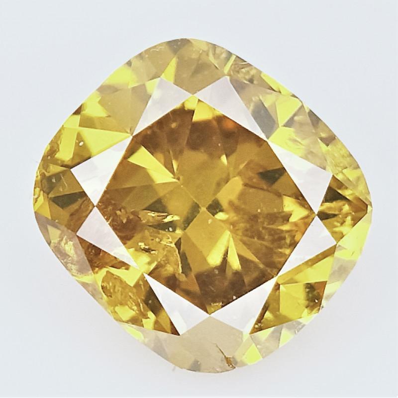 0.42 CTS , fancy Color Diamond , Fancy Cut Diamond