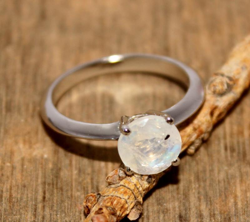 Natural Moonstone 925 Silver Ring 479