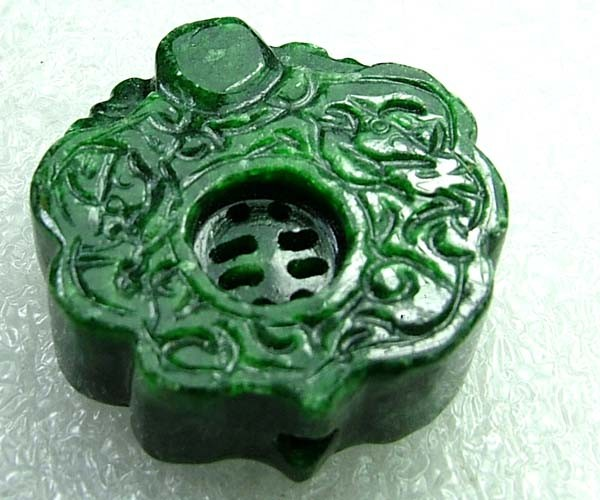141cts Stunning Namibia Malachite Carving Drilled DC78
