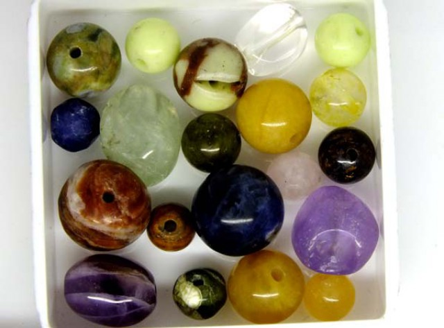 ASSORTED NATURAL BEADS (PARCEL) 29.80 CTS  NP-1562