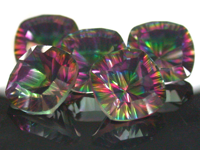 PARCEL 5 PC MYSTIC QUARTZ  VVS  FACETED 17.75 CTS  GTT 434