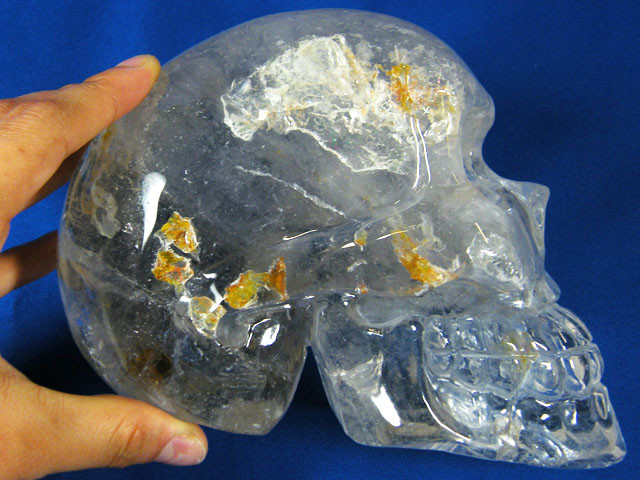 HUGE QUARTZ SKULL CARVING 2.2 KILO AAT 479
