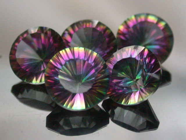 PARCEL 5 PC MYSTIC QUARTZ  VVS  FACETED 13.20 CTS  GTT 494