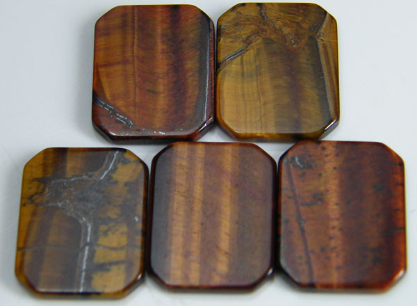 PARCEL OF 5 SQUARE 14X12X2 TIGER EYE CARATS 19.80 AAT 690