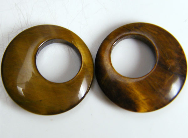 PAIR OF TWO  20X20X4 TIGER EYE CARATS 18.15 AAT 698