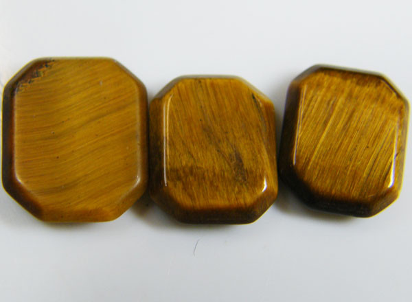 PARCEL OF 3 SQUARE  11X8X2 TIGER EYE CARATS 6.60 AAT 701