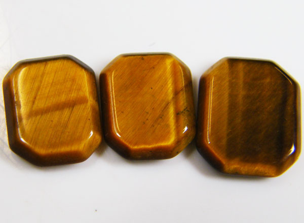 PARCEL OF 3 SQUARE  11X8X2 TIGER EYE CARATS 6.45 AAT 708