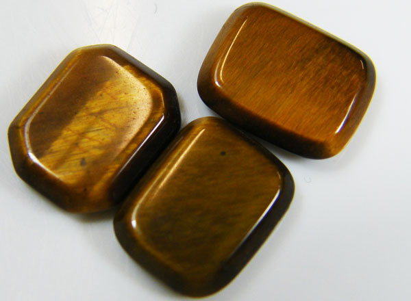 PARCEL OF 3 SQUARE  11X8X2 TIGER EYE CARATS 6.30 AAT 710