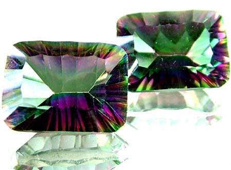 PAIR 'GALAXY' MYSTIC QUARTZ 21.90 CTS [TS265 ]