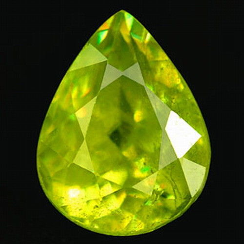 1.91 Carat Sphene Pear VSSI Beautiful Color