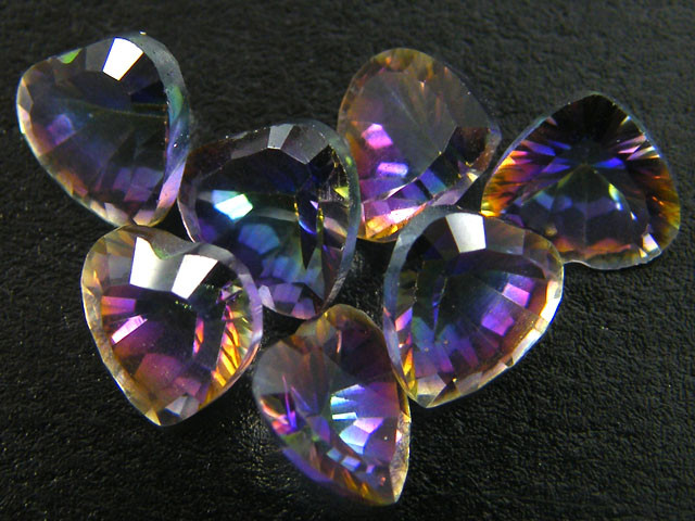 PARCEL 7 PC MYSTIC QUARTZ  VVS  FACETED 4.65 CTS  GTT 573
