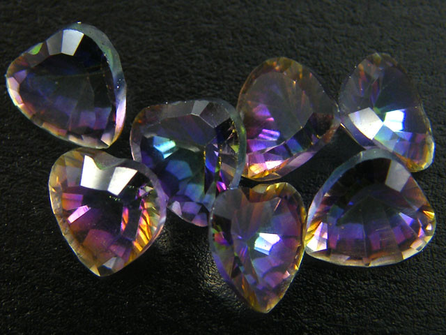 PARCEL 7 PC MYSTIC QUARTZ  VVS  FACETED 4.35 CTS  GTT 580