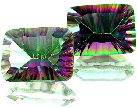 PAIR 'GALAXY' MYSTIC QUARTZ 21.60 CTS [TS272 ]