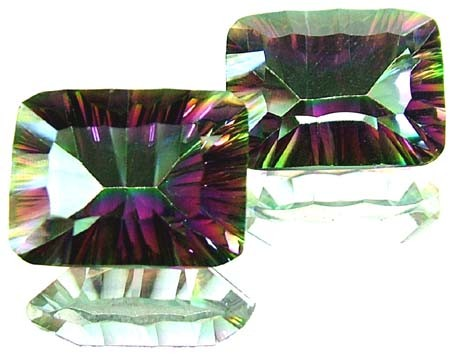 PAIR 'GALAXY' MYSTIC QUARTZ 21.25 CTS [TS276 ]