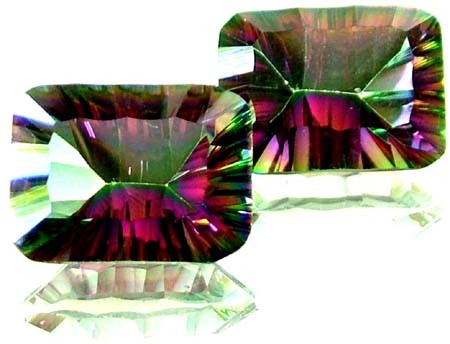 PAIR 'GALAXY' MYSTIC QUARTZ 19.70 CTS [TS 285]
