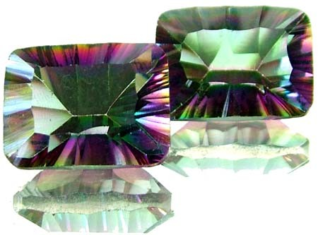 PAIR 'GALAXY' MYSTIC QUARTZ 23.65 CTS [TS286 ]