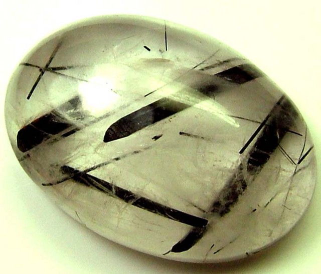 BLACK RUTILATED QUARTZ STONE 16.30 CTS [MX4372 ]
