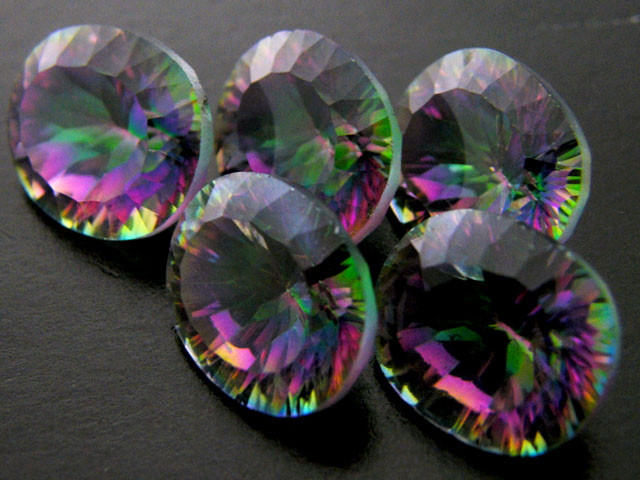 PARCEL 5 PC MYSTIC QUARTZ  VVS  FACETED 22.80 CTS  GTT 635