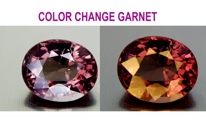 1.55CT COLOR CHANGE GARNET BEST QUALITY GEMSTONE IIGC03