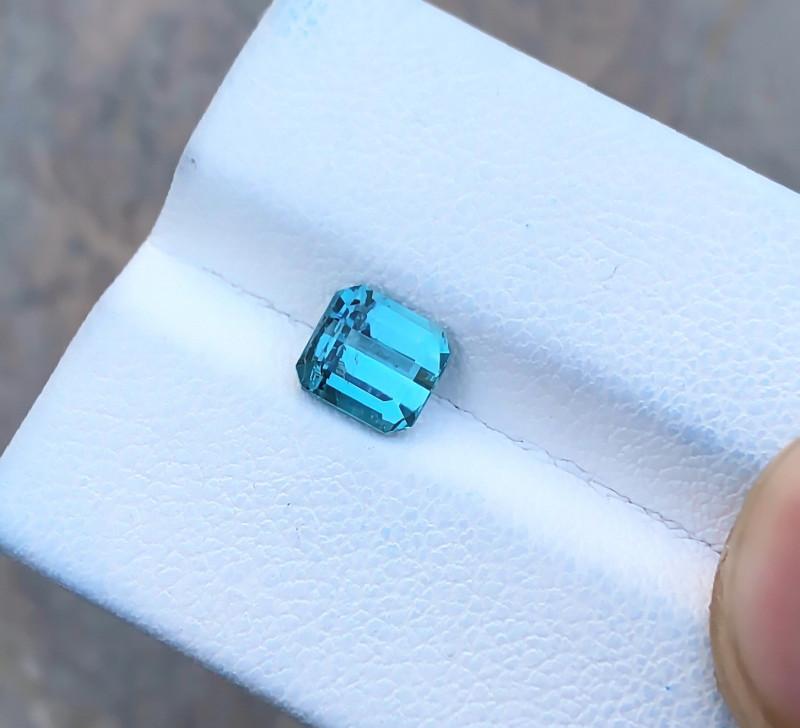 1.15 Ct Natural Blue Transparent Tourmaline Ring Size Gemstone