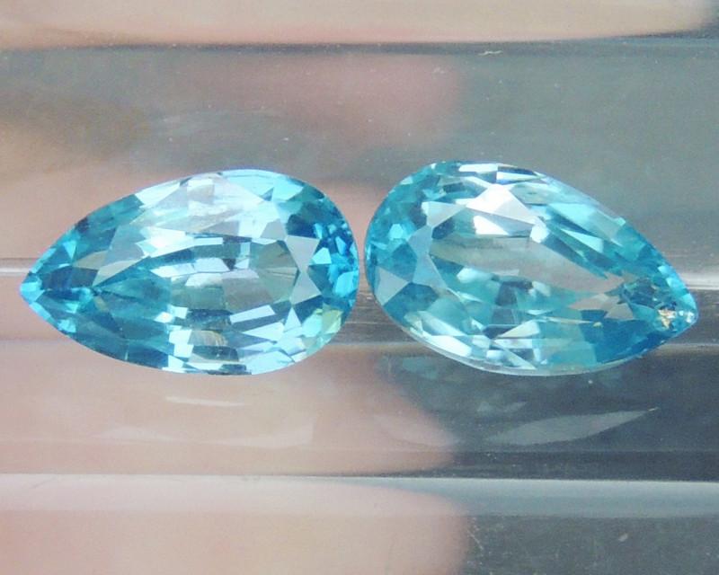 4.85cts Blue Zircon from Cambodia