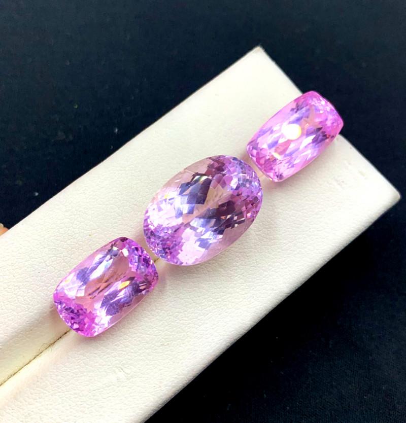 37.80 cts Natural Pink Kunzite Gemstones Lot