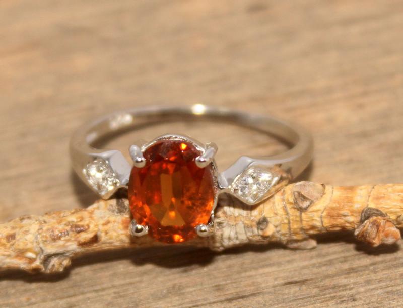 Natural Hassonite Garnet 925 Silver Ring 445
