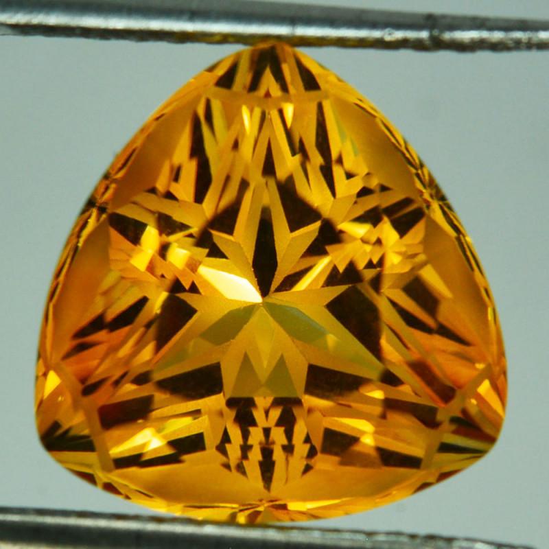 ~CUSTOM CUT~ 16.00Cts Natural Golden Orange Citrine Fancy  16mm  Trillion