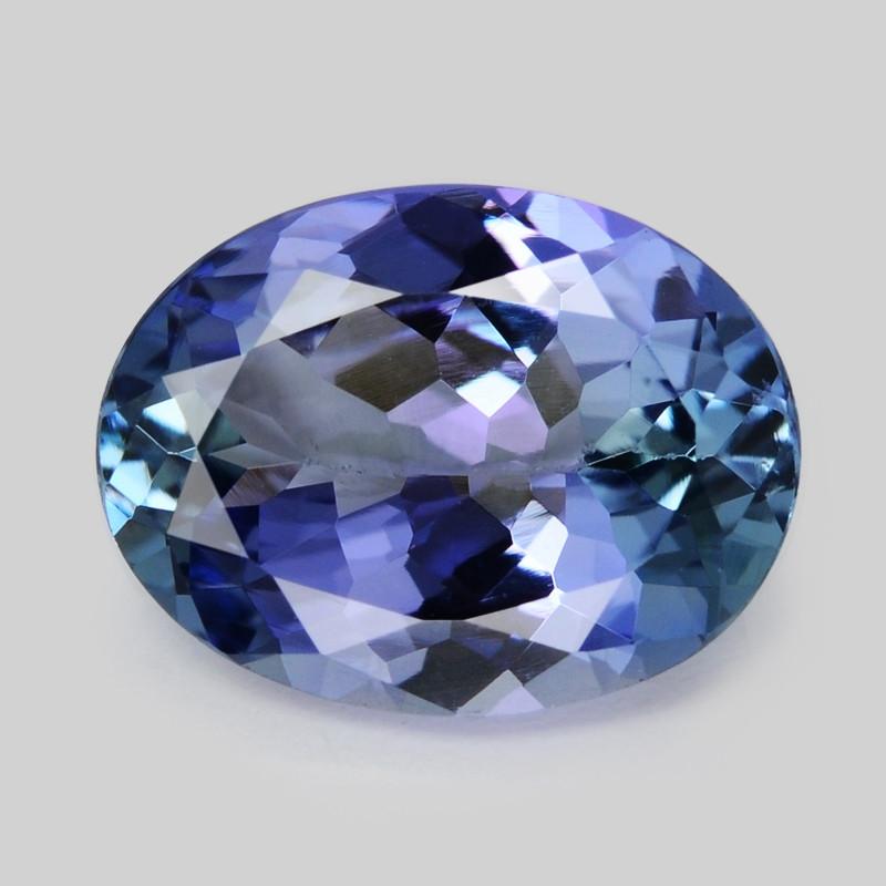 Tanzanite 1.80 Cts Amazing Rare Violet Blue Color Natural Gemstone