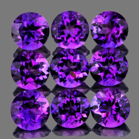 5.00 mm Round 9 pcs 4.55cts Purple Amethyst [VVS]