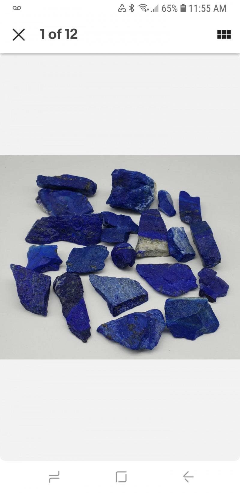 Lapis Lazuli 506 grams Rough 21 pcs  Afghanistan mines.  If you buy multipl