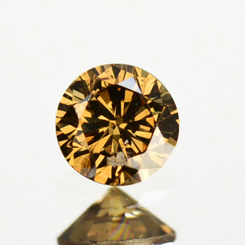 0.34 Cts Natural Untreated Diamond Fancy Brown 4.30mm  Round Cut Africa
