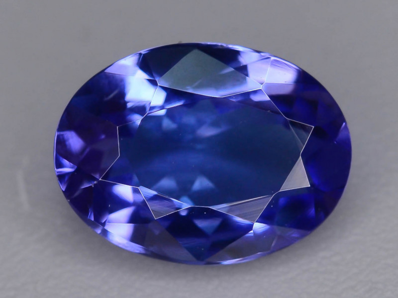 Deep Color 1.30 cts  Top Grade Clean Tanzanite Eye Catching Ring Size