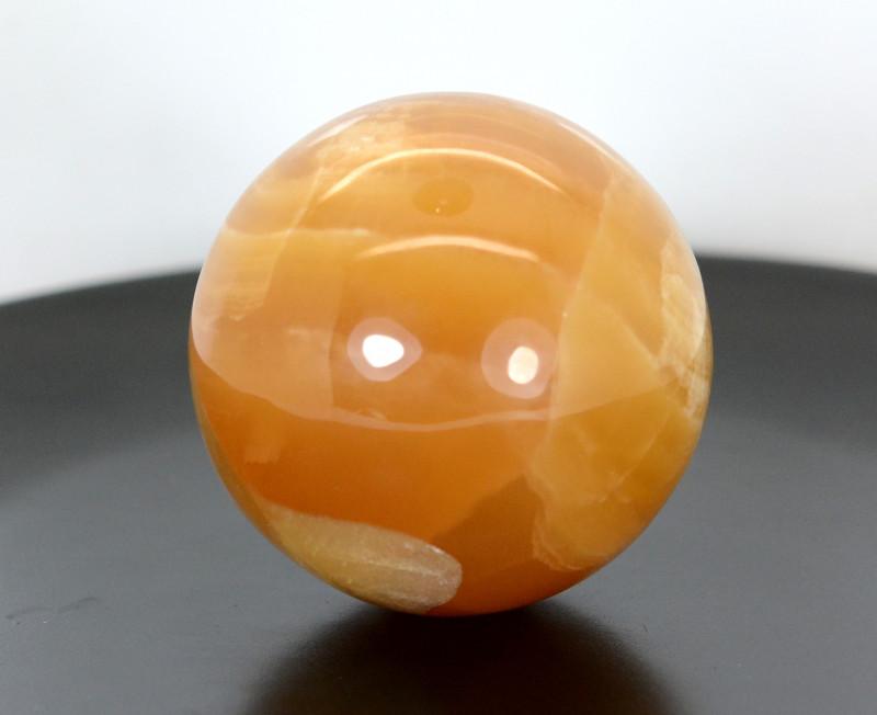 1349 CTs Beautiful Honey Calcite Healing Sphere From Pakistan