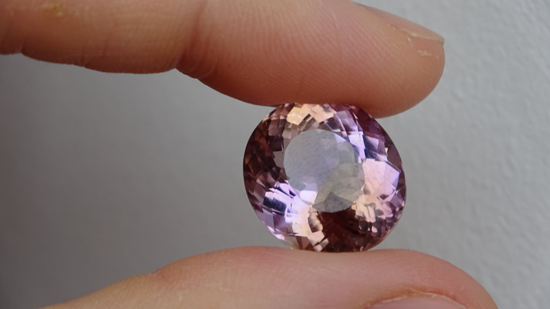 Ametrine - Purple Yellow - 17.4ct Cert -