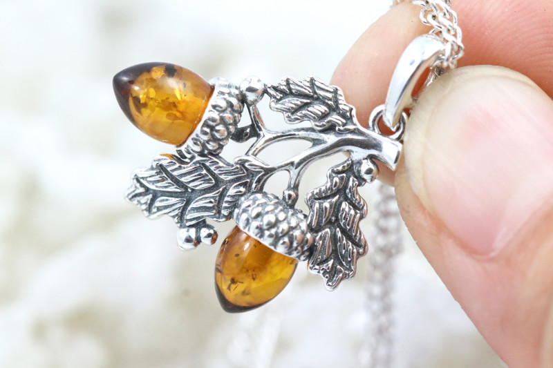 Natural Baltic Amber Sterling Silver Pendant code GI 1172