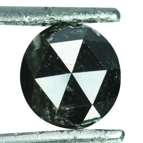 1.19 Cts Natural Black Diamond Round 7mm (Rose Cut) Africa