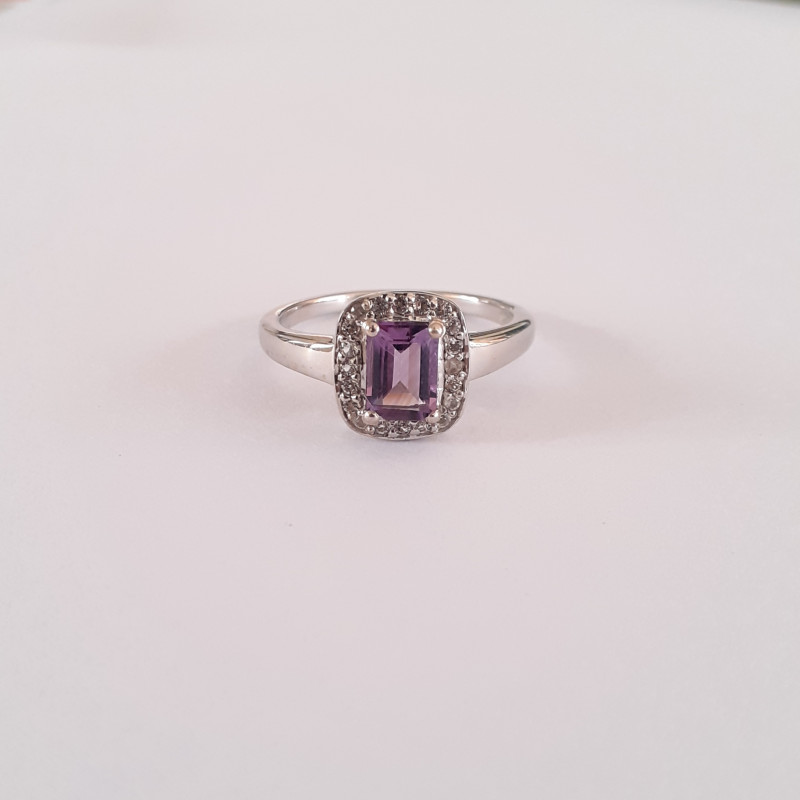 Amethyst 925 Sterling silver ring #36516