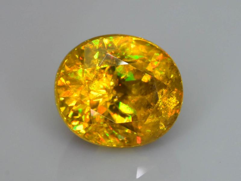 Rare AAA Fire 3.16 ct Malayaite Sphene Sku-76