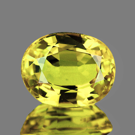 6x5 mm Oval 0.68ct Ceylon Yellow Sapphire (No Beryllium) [VVS]